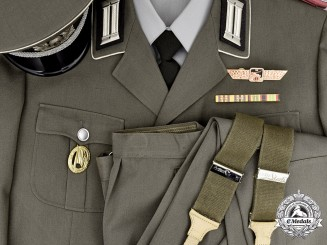 Germany, DDR. A National People's Army Panzer Hauptmann Dress Uniform