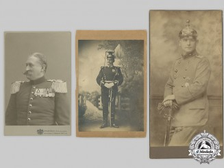 Germany, Imperial. A Lot of Studio Portraits of Imperial Officers