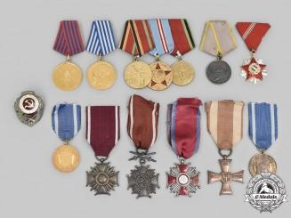 Hungary, People's Republic; Poland, Republic, People's Republic; Russia: Soviet Union; Yugoslavia, Socialist Federal Republic. A Lot of Fourteen Awards