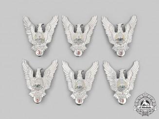Romania, People's Republic. Six Romanian Air Force (RoAF) Pilot III Class Badges
