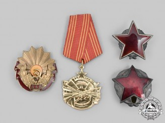 Yugoslavia, Albania, Romania. A Lot of Four Socialist Orders