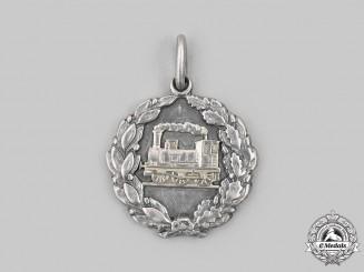 Poland, Republic. A Railway 25th Silver Jubilee Medal 1877-1912