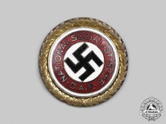 Germany, NSDAP. A Golden Party Badge, Large Version, by Deschler & Sohn