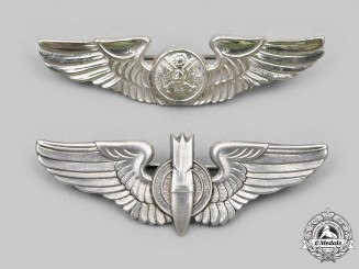 United States. Two United States Army Air Force (USAAF) Dress Wings, c.1945