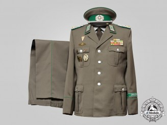 Germany, DDR. An East German Border Troops Oberst Dress Uniform