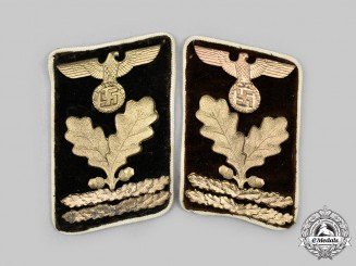 Germany, NSDAP. A Set of Kreis-Level Oberabschnittsleiter Collar Tabs
