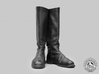 Germany, Ordnungspolizei. A Pair of Ordnungspolizei EM/NCO's Riding Boots