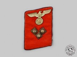 Germany, NSDAP. A Gau-Level Einsatzleiter Collar Tab