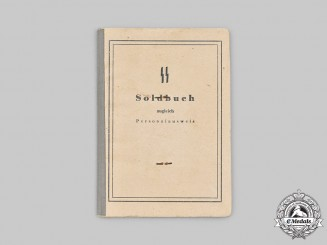 Germany, SS. A SS Schutzpolizei Soldbuch to Wachtmeister Thilo Matthes