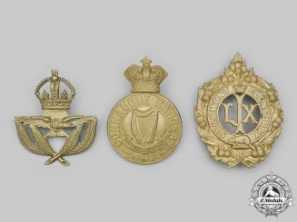 Canada, United Kingdom. A Lot of Three Glengarry/Cap Badges