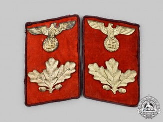 Germany, NSDAP. A Set of Gau-Level Dienstleiter Collar Tabs