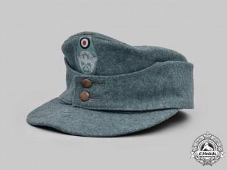 Germany, Ordnungspolizei. An EM/NCO's M43 Field Cap
