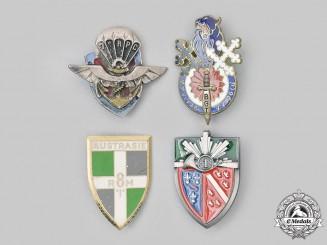France, V Republic. A Lot of Four Regimental Badges