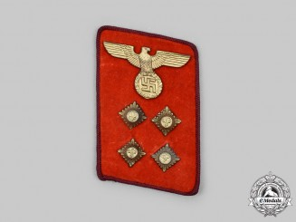 Germany, NSDAP. A Gau-Level Gemeinschaftsleiter Collar Tab