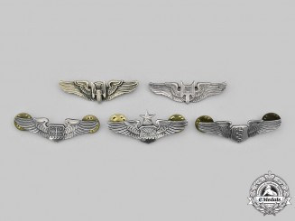 United States. A Lot of Five Air Force (USAF) Dress Wings, c.1945