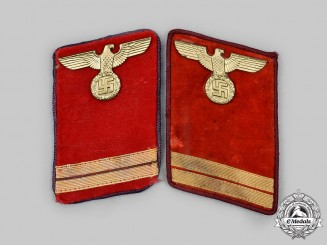 Germany, NSDAP. A Set of Gau-Level Haupthelfer Collar Tabs
