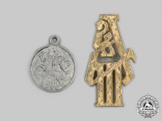 Russia, Imperial. A Pair of Decorations
