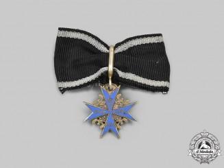 Prussia, Kingdom. A Pour le Mérite Miniature Boutonniere, by J. Godet & Sohn, c.1917