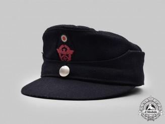 Germany, Feuerschutzpolizei. An EM/NCO's Single-Button M43 Cap