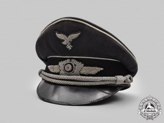 Germany, Luftwaffe. An Owner-Attributed Officer's Visor Cap
