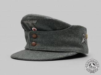 Germany, Wehrmacht. A Heer Gebirgsjäger EM/NCO's Mountain Cap, by Hans Schildberger