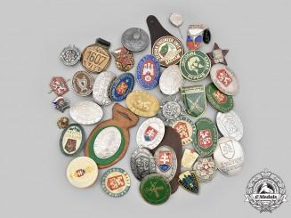 Czechoslovakia, Republic, Socialist Republic; Slovakia, Republic. A Lot of Thirty-Nine Badges