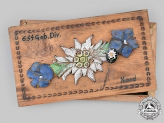 Germany, SS. A 6th SS Mountain Division Nord Trench Art Box with Stick Pin