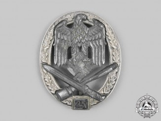 Germany, Wehrmacht. A General Assault Badge, Special Grade for 25 Engagements, by Josef Feix & Söhne