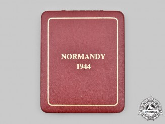 United Kingdom. A Normandy Campaign Medal Case