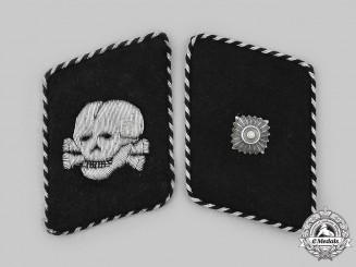 Germany, SS. A Set of SS-Totenkopfverbände Unterscharführer Collar Tabs