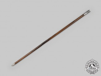 United States. A Tiffany Made United States Military Academy Officers Swagger Stick 1915