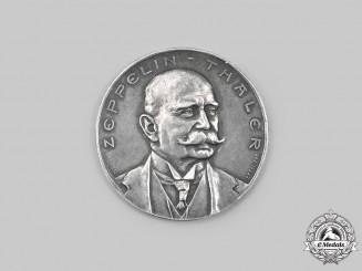 Germany, Imperial. A Count Ferdinand von Zeppelin Thaler Flight of Z.III to the Rhein-Westfalia Industrial Area Medal 1909