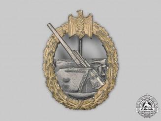 Germany, Kriegsmarine. A Coastal Artillery War Badge, by Rudolf Souval