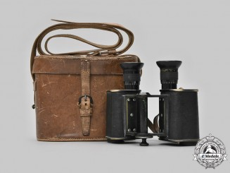 United Kingdom. An Early Twentieth Century Field Binoculars by Carl Zeiss of Jena, Named to Dr. Arnold Caddy FRCS of Calcutta