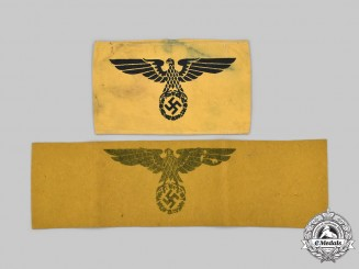 Germany, Wehrmacht. A Pair of Wehrmacht Auxiliary Personnel Armbands