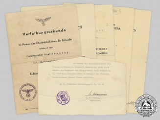 Germany, Wehrmacht. A Lot of Award Documents, Panzerjäger-Abteilung 1