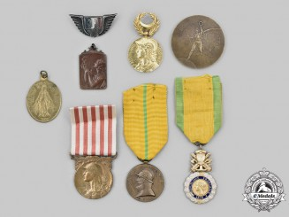 Belgium, Kingdom; France, III Republic. A Lot of Eight Items