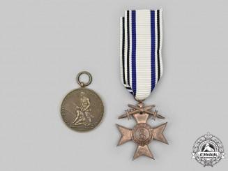 Bavaria, Kingdom. A Pair of Service Medals