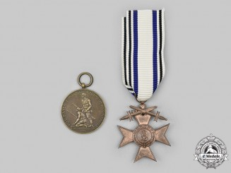 Bavaria, Kingdom. A Pair of Service Medals