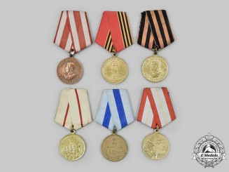 Russia, Soviet Union, Federation. A Lot of Six Medals & Awards