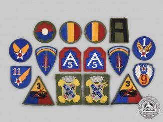 United States. A Lot of Twelve U.S. Armed Forces and Two Foreign Sleeve Patches