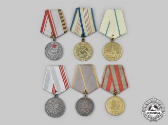 Russia, Soviet Union. A Lot of Six Medals & Awards