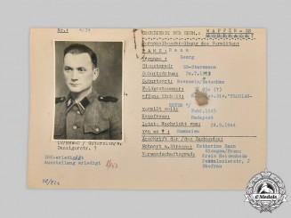 Germany, SS. A HIAG Tracing Service File for SS-Sturmmann Georg Rann