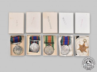 Canada, Commonwealth. Five Second War Canadian-Issued Awards, Boxed