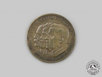 Germany, Weimar Republic. A First World Trip of Airship Graf Zeppelin Medal 1929