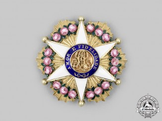 Brazil, Kingdom. An Order of the Rose, Officer's Breast Star, c.1900