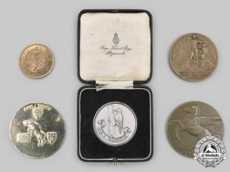 United Kingdom, Canada. A Lot of Five Commemorative Medals