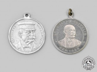 Germany, Imperial. Two LZ 4 Commemorative Medals