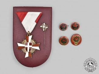 Austria, Republic. A State of Vienna Merit Cross, Fullsize & Miniature