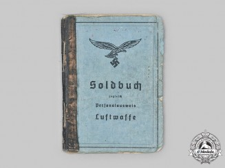 Germany, Luftwaffe. A Soldbuch to Dr. Franz Müller